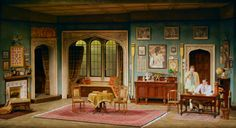 Charley's Aunt. Interior. The Guthrie Theatre. Set design by John Coyne.