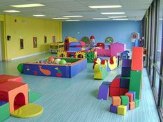 Things to Consider before Making Kids Playground Design Atemberaubende Kinderzimmer-Ideen: 155 beste Designs Daycare Spaces, Home Daycare, Kid Spaces, Daycare Ideas, Toddler Daycare Rooms, Daycare Setup, Childcare Rooms, Kids Indoor Playground, Playground Design