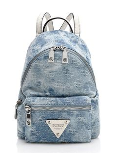 The backpack is a versatile style choice suitable for all sorts of occasions Guess Backpack, Jean Backpack, Backpack Purse, Cute Mini Backpacks, Unique Backpacks, Fashion Bags, Fashion Backpack, Bags For Teens, Best Bags