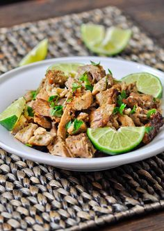 Pork Carnitas - this is the meat you want for your tacos, burritos, sandwiches, you name it. It's to die for! Turn it into tacos, enchiladas . Pork Recipes, Paleo Recipes, Mexican Food Recipes, Cooking Recipes, Dinner Recipes, Pork Meals, Cooking Ideas, Food Ideas, Tacos And Burritos
