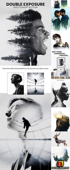 Double Exposure Photoshop Action 23097819 Photoshop ATN 12 mb Create a wonderful effect of double exposur in a few seconds with professional result. Photoshop Design, Best Photoshop Actions, Effects Photoshop, Photoshop Tutorial, Photoshop Tips, Photoshop Website, Photoshop Course, Photoshop Express, Photoshop Projects