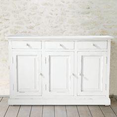 Mango wood dresser in light grey W 175cm - St Rémy | Dresser ...