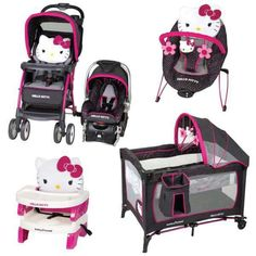 Baby Stroller And Car Seat Combo For Girl Infant Playard Portable ...
