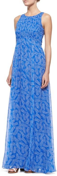 ShopStyle Collective,  Nieman Marcus, Diane von Furstenberg Riviera Sleeveless Smocked Maxi Dress