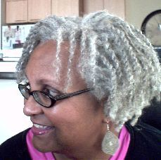 GrayHairTwists... Beautiful natural gray/silver hair..
