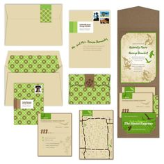 EcoChic Wedding Invitation by AprilTwentyFive on Etsy, $853.70