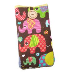 Cute Elephants iPhone 7, iPhone 7 Plus, iPhone 6, iPhone 6 Plus, iPhone SE, iPhone 5 sleeve, case, pouch, cover, protective, padded by DriSewing on Etsy