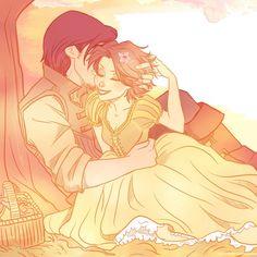 Tangled-Rapunzel and Eugene by viria13.deviantart.com on @deviantART