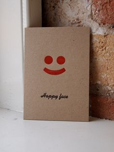 Happy Face letterpress greetings card £3.00