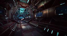 Sci-Fi Interiors by eddie-mendoza bridge lab astronaut guard space station spacecraft spaceship landscape location environment architecture Spaceship Interior, Futuristic Interior, Spaceship Design, Spaceship Concept, Futuristic Art, Concept Art Sci Fi, Star Citizen, Cyberpunk, Star Wars