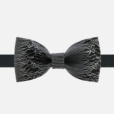White Lines Bow Tie