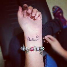My #believe #tattoo