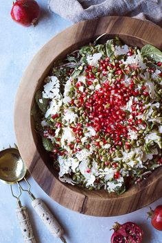 Fall Salad with Roasted Pepitas and Tahini Dressing