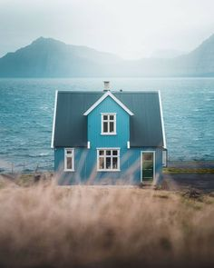 Beautiful World, Beautiful Places, Cabin In The Woods, Cute House, Faroe Islands, My Dream Home, Land Scape, House Colors, Destinations
