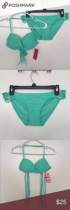 Teal Shell Strapless Bikini - Target - NWT! 👙 Teal Shell Strapless Bikini - Target - NWT! 👙 I have the top in a size M, but I have the same bottoms available in M or L. Never worn! Xhilaration Swim Bikinis