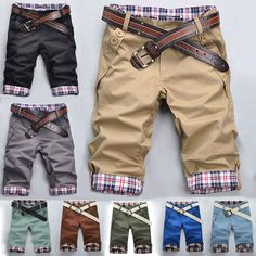 Summer Mens Casual Sports Capri Pants Shorts Trousers Military Army Cargo Pants…