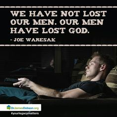 Our men need to walk with God