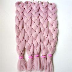 """1kpl / erä 24 """"80g kuningatar vaaleanpunainen väri Kanekalon Senegalin käänteitä Xpression synteettinen jumbo laatikko letitys hiukset 4680220 2017 – hintaan €8.54"""