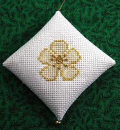 Christmas Rose Chrismon Christmas Ornament in Cross by NoelBelles