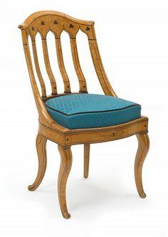 La duchesse de Berry et le mobilier Charles X - Chaise, vers 1825-1830