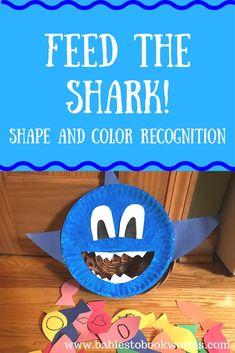"""Babies to Bookworms provides fun learning activities to pair with Beth Ferry's fun book """"Land Shark"""" about a little boy who wants a pet shark. Check it out! Learning Shapes for Toddlers Shark Games For Kids, Shark Activities, Infant Activities, Book Activities, Preschool Activities, Baby Learning Activities, Zoo Preschool, Animal Activities For Kids, Preschool Learning"""