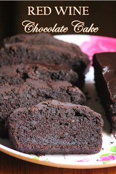 Super moist and decadent chocolate red wine cake which is a win win. It is super delicious you would absolutely go mad for it. Red Wine Chocolate Cake, Perfect Chocolate Cake, Amazing Chocolate Cake Recipe, Chocolate Topping, Decadent Chocolate, Cupcake Cakes, Cupcakes, Complete Recipe, Special Recipes