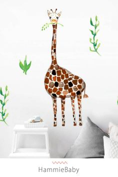 Our peel and stick wall decals are great for any nursery, playroom or kids room. These wall stickers are a great addition to a giraffe nursery, safari nursery or jungle theme nursery. Jungle Baby Room, Jungle Theme Nursery, Giraffe Nursery, Nursery Themes, Nursery Ideas, Nursery Decor, Wall Mural Decals, Wall Stickers, Kids Bedroom