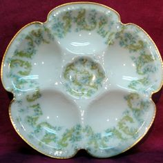 Antique Oyster Plates from Kilmarnock Antiques: