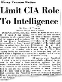 "1975 Video: CIA admits to Congress AGency Used Mainstream Media to Distribute Disinfo 1-18-15 by MM  It has been verified by a source who claims she was there that then-CIA Director William Casey did in fact say the controversial and often-disputed line ""We'll know our disinformation program is complete when everything the American public believes … Continue reading →"