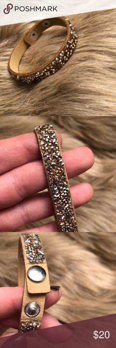 Gold & Silver Sparkle Wrap Bracelet Never worn! Beautiful, trendy Bracelet Adjustable to fit any size wrist Jewelry Bracelets