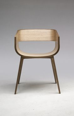 Inspired by traditional wooden shipbuilding techniques, Maritime is a solid wood range of chairs that are skinned internally with a formed plywood shell. D