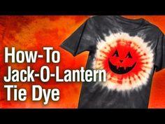 ▶ How-To Jack-O-Lantern Tie Dye T-shirt - YouTube