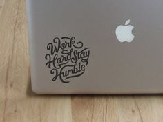 Work hard stay humble  Laptop Decal by Cutthesheet on Etsy