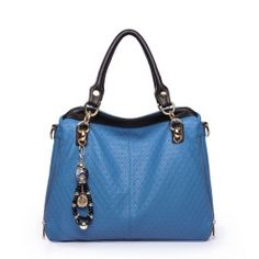 Carlo The Dinah Series Embossing Tote BLUE $49.99 at shopswagstore.com