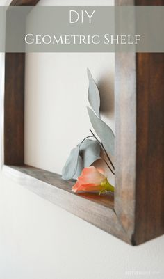 DIY Geometric Shelf