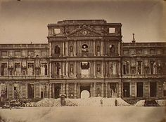Tuileries Palace, burned by the Paris Commune in 1871. The standing walls were razed in 1883.