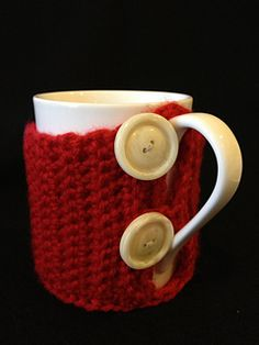 Snug Coffee Cup Cozy ~ free pattern