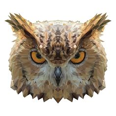 Somebody Watching you on Behance Animal Sketches, Animal Drawings, Design Lab, Logos Retro, Polygon Art, Animal Posters, Owl Art, Illustrations And Posters, Geometric Art