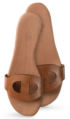 "Hermes - Lisboa natural calfskin sandals. ""Repinned by Keva xo""."