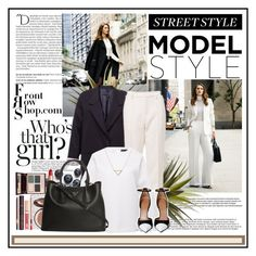 """Out in the city..."" by cindy88 ❤ liked on Polyvore featuring Balmain, By Terry, CB2, Charlotte Tilbury, Prada, Givenchy, Banana Republic and Front Row Shop"