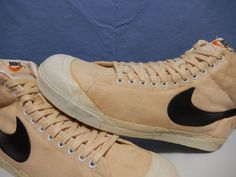 buy popular 66535 7479e Vintage 1978 Nike Blazer Canvas Basketball Shoes og Korea sz 15 Nike  BasketballShoes
