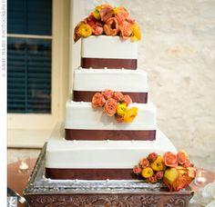 Beautiful fall color cake