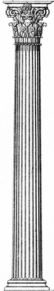 Säulenschaft einer korinthischen Säule (Teil zwischen Basis und Kapitell)