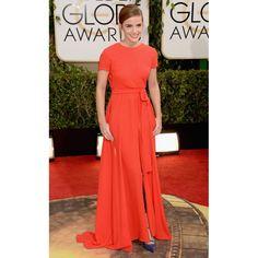 Emma Watson Red Custom Prom Dress at 2014 Golden Globe Awards Red Carpet