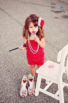 Red bubble lace Petti Romper, great photography prop. $21.50, via Etsy...don't care about the romper just liked the pic
