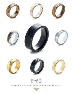 Custom Designed Men's Wedding Rings