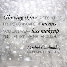 Michel agrees with Laura's #beauty philosophy - a flawless face starts with flawless #skincare.