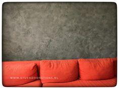 Mooie #Groene  #wand  met #stucco #mat van #brander www.stucadoorstiens.nl