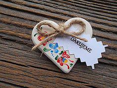 Darčeky pre svadobčanov - svadobné srdiečka / folklór - 6326544_