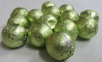 Foiled Milk Choc Leaf Green Balls (500g bag)